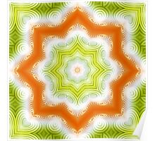 Orange and green abstract pattern Poster