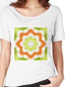 Orange and green abstract pattern Women's Relaxed Fit T-Shirt