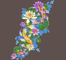 Lotus Koi Pond Mens V-Neck T-Shirt