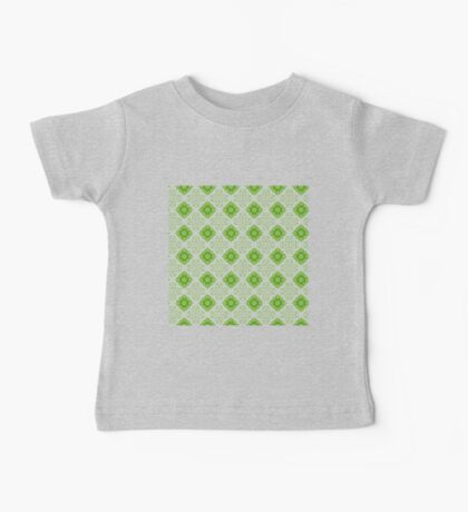 Green and white abstract pattern background Baby Tee