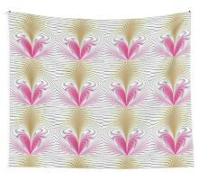 Pink and brown abstract pattern background Wall Tapestry