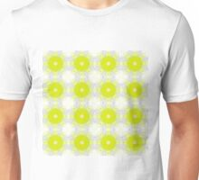 Yellow and white pattern background Unisex T-Shirt