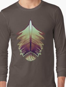 purple sunrise feather and gem Long Sleeve T-Shirt