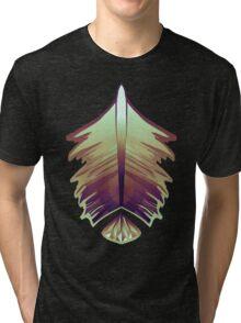 purple sunrise feather and gem Tri-blend T-Shirt