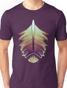 purple sunrise feather and gem Unisex T-Shirt