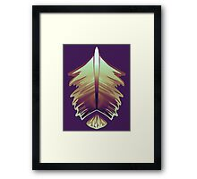 purple sunrise feather and gem Framed Print