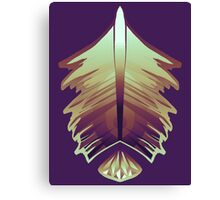 purple sunrise feather and gem Canvas Print