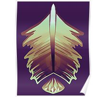 purple sunrise feather and gem Poster