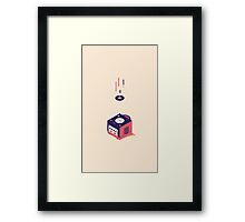 ElectroVideo Gamecube (Red) Framed Print