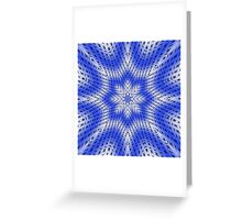 Blue and white abstract pattern background Greeting Card