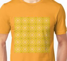 Yellow and white abstract pattern background Unisex T-Shirt