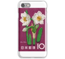 1961 Japan Narcissus Postage Stamp iPhone Case/Skin
