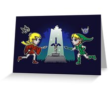 Master Sword in the Stone Greeting Card
