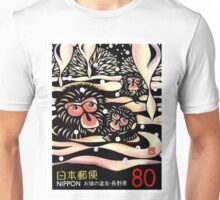 1989 Japan Snow Monkeys Postage Stamp Unisex T-Shirt