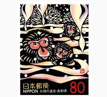 1989 Japan Snow Monkeys Postage Stamp Unisex T-Shirt