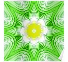Green and yellow floral background Poster