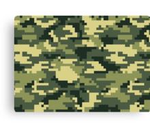 8 Bit Pixel Woodland Camouflage Canvas Print