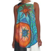 Yin and Yang A-Line Dress