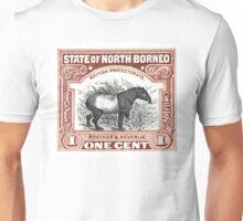 1904 North Borneo Tapir Postage Stamp Unisex T-Shirt