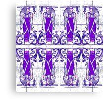 Priests and Cobra White and Purple II Canvas Print