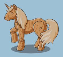 Unocchio the Wooden Unicorn One Piece - Short Sleeve