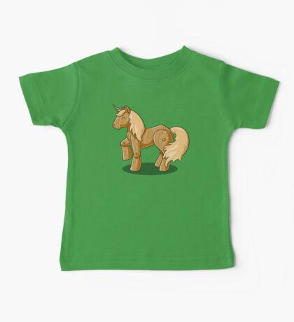 Unocchio the Wooden Unicorn Baby Tee