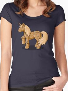 Unocchio the Wooden Unicorn Women's Fitted Scoop T-Shirt