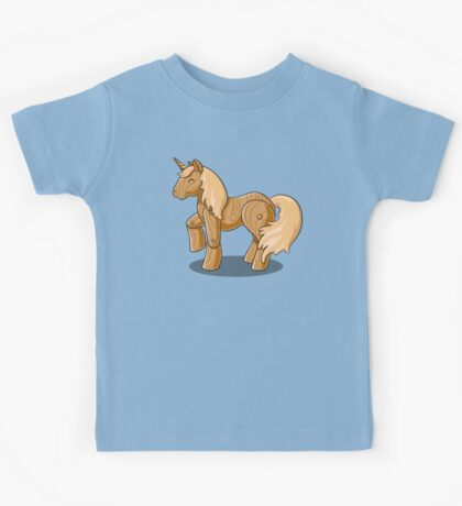 Unocchio the Wooden Unicorn Kids Tee