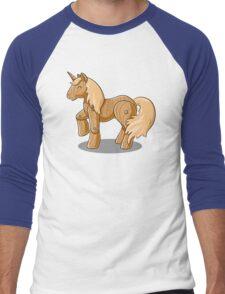 Unocchio the Wooden Unicorn Men's Baseball ¾ T-Shirt