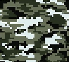 8 Bit Pixel Urban Camouflage by tinybiscuits