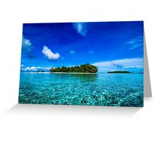 Islands of the Southern Lagoon Greeting Card