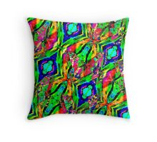 Flying with the butterflies into a world of wonder and amazement Throw Pillow