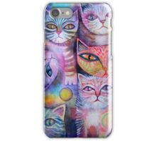 Mother cat and kittens II iPhone Case/Skin