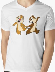 chip and dale Mens V-Neck T-Shirt