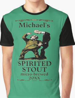 funny vintage spirited stout beer label Graphic T-Shirt