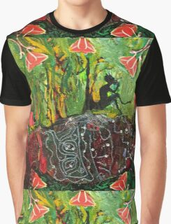 Pan showing roots into the Earth. Graphic T-Shirt