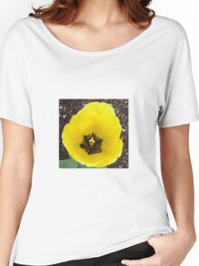 Bright Yellow Tulip Women's Relaxed Fit T-Shirt