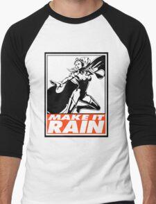 Storm Make It Rain Obey Design Men's Baseball ¾ T-Shirt