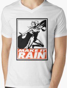 Storm Make It Rain Obey Design Mens V-Neck T-Shirt