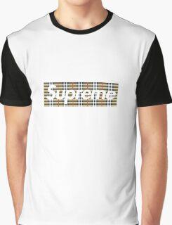 Supreme x Burberry Box Logo Graphic T-Shirt
