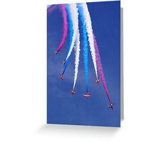 Red Arrows Break Greeting Card