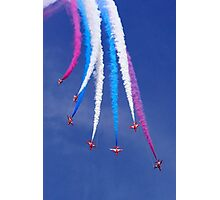 Red Arrows Break Photographic Print
