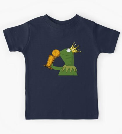 Frog Kissing Championship Trophy Kids Tee