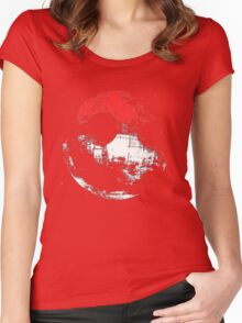 Death Star Pokeball Women's Fitted Scoop T-Shirt