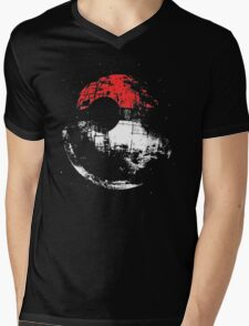 Death Star Pokeball Mens V-Neck T-Shirt
