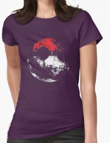 Death Star Pokeball Womens Fitted T-Shirt