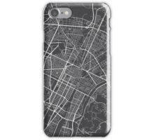 Turin Map, Italy - Gray iPhone Case/Skin
