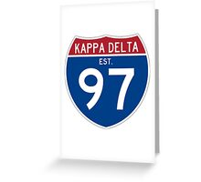 Kappa Delta Interstate Greeting Card