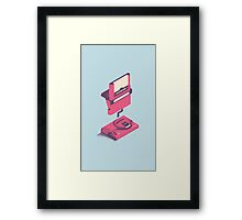ElectroVideo Megadrive/Genesis (Pink and Blue) Framed Print