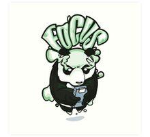 Focus Panda Art Print